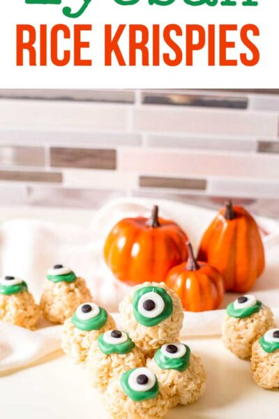 eyeball rice Krispy treats