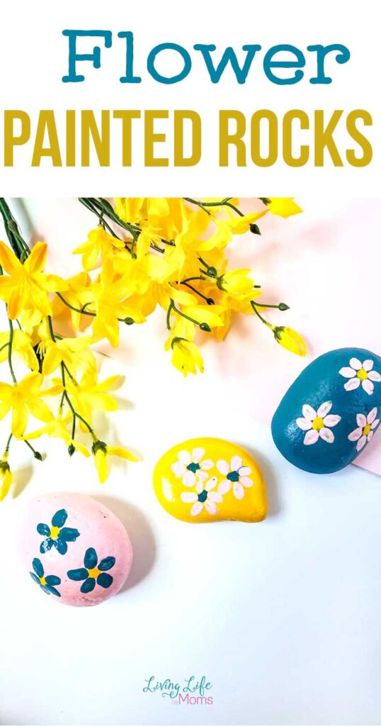 Flower Painted Rocks Craft