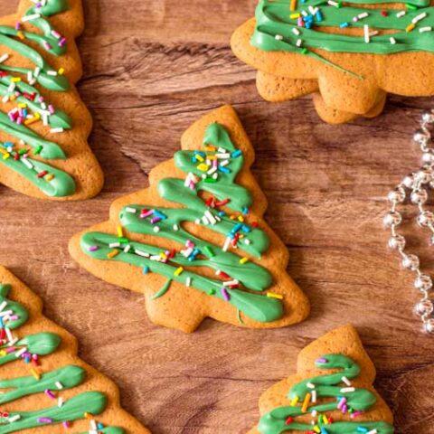 Christmas Tree Gingerbread Cookies Recipe