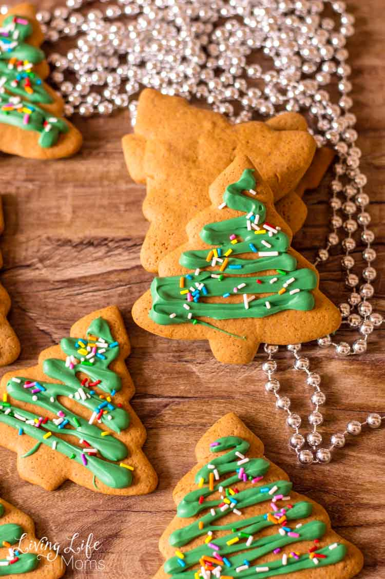 Christmas Tree Gingerbread Cookies