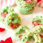 holiday wreath desserts