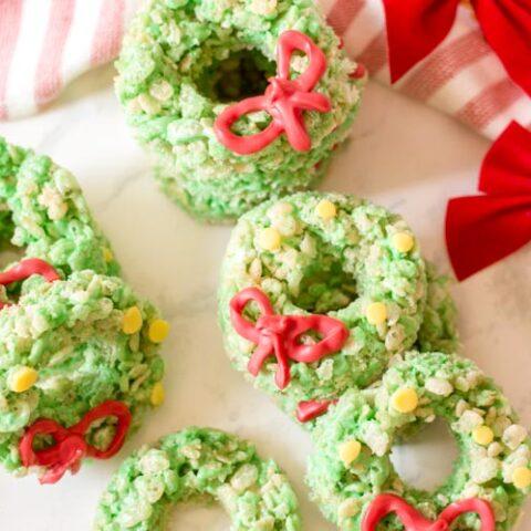 Christmas wreath treats