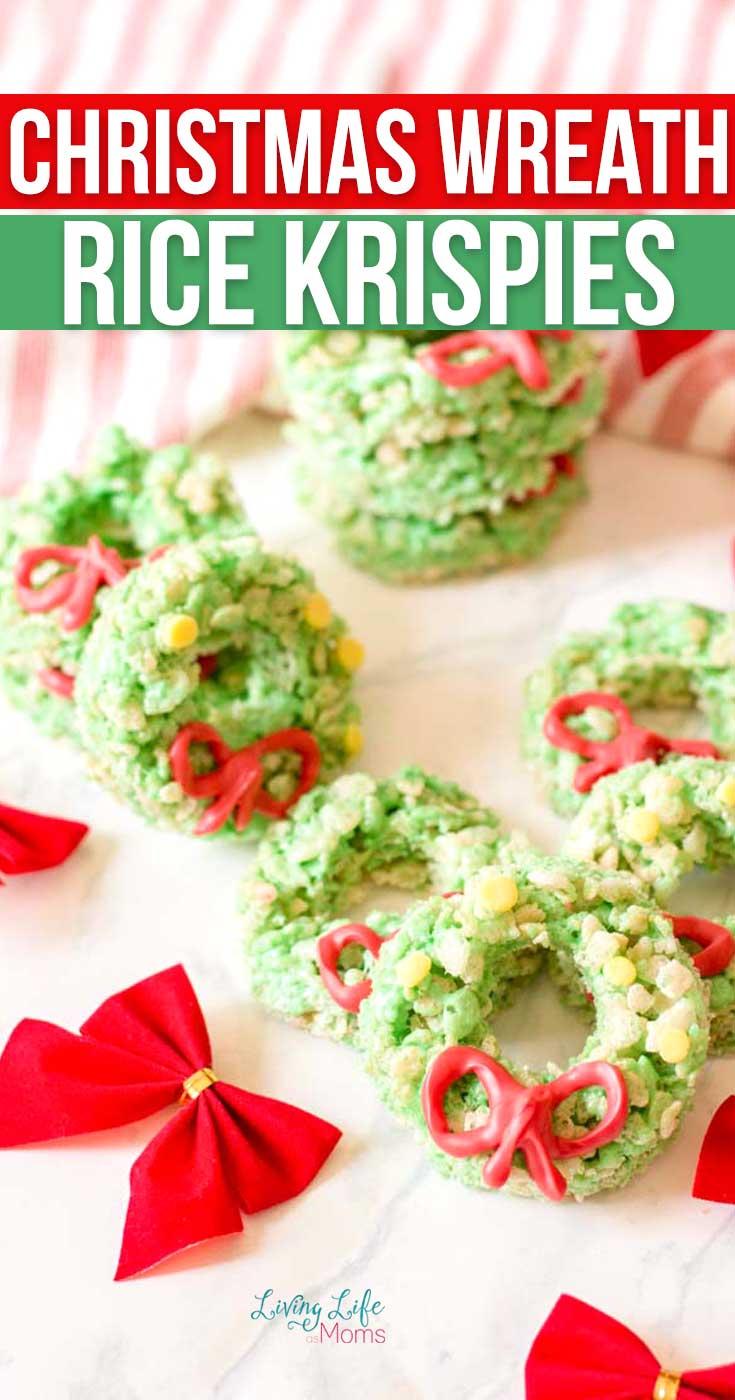 Christmas wreath rice krispies treat