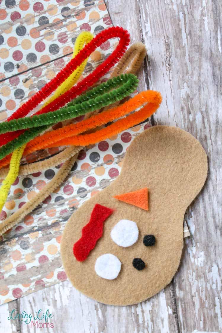 DIY Felt Turkey Craft Supplies