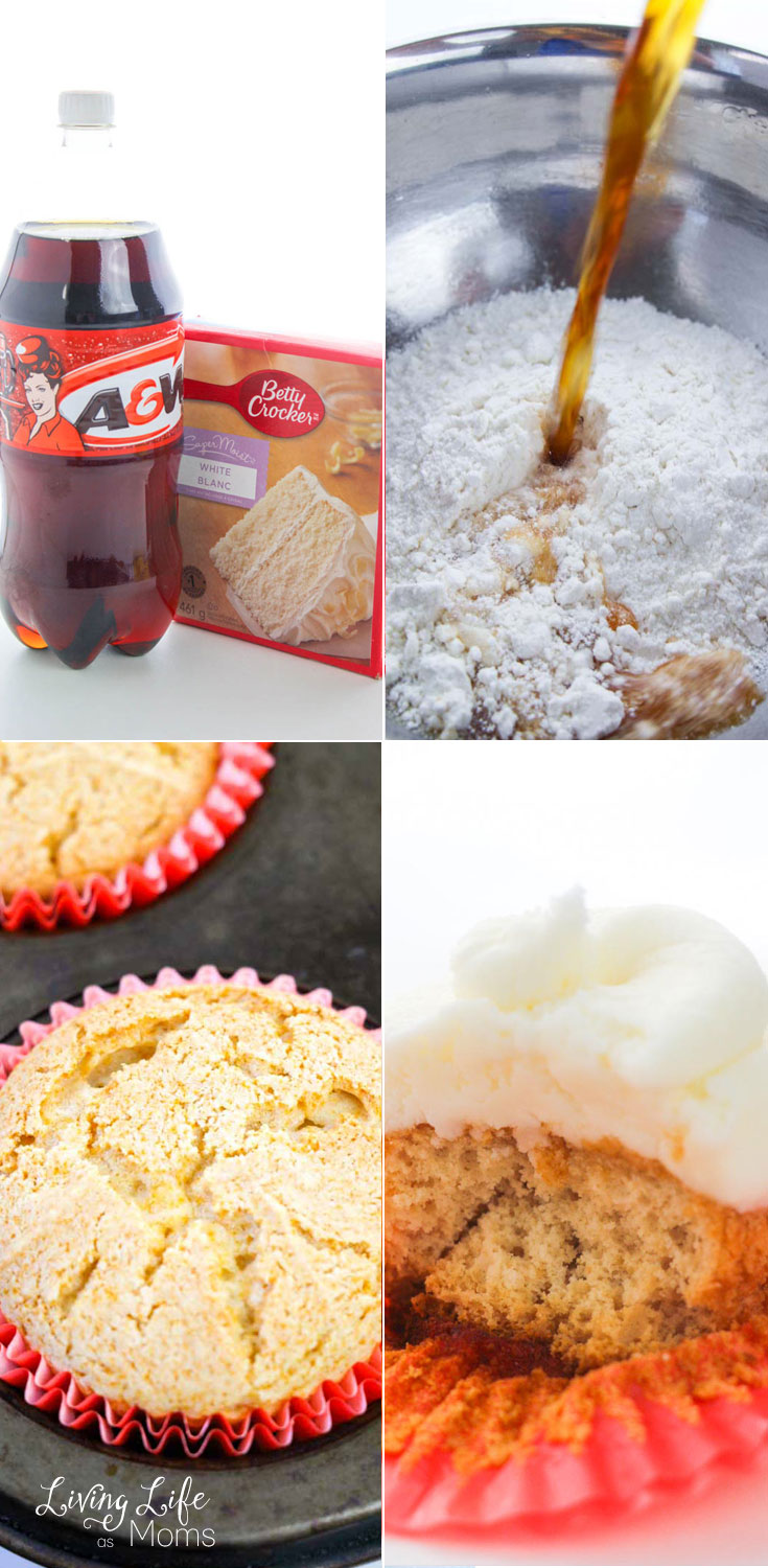 cake mix cupcakes with rootbeer