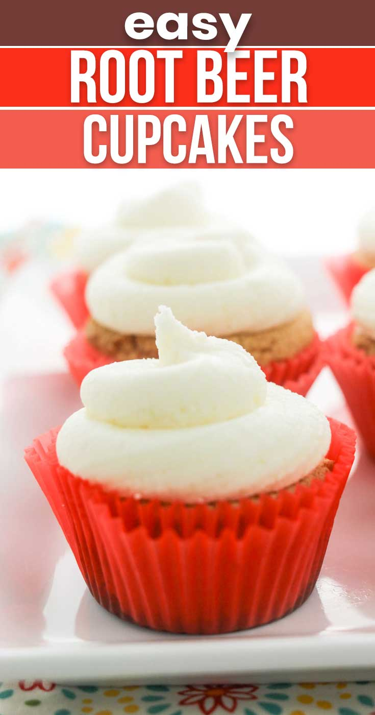 Easy Root Beer Cupcakes with Cake Mix