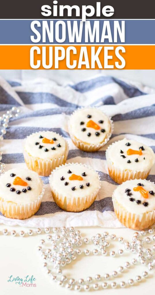 simple snowman cupcakes