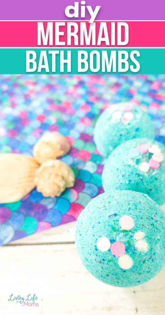 DIY Mermaid Bath Bomb Tutorial