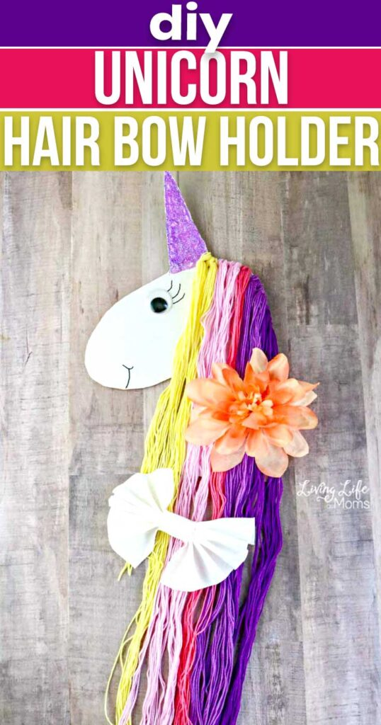 DIY Unicorn Hair Bow Holder