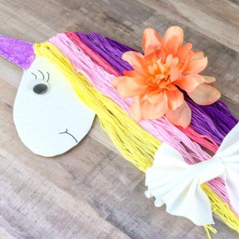 DIY Unicorn Hair Bow Holder