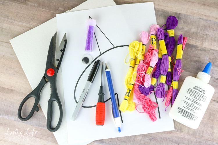 DIY Unicorn Hair Bow Holder supplies