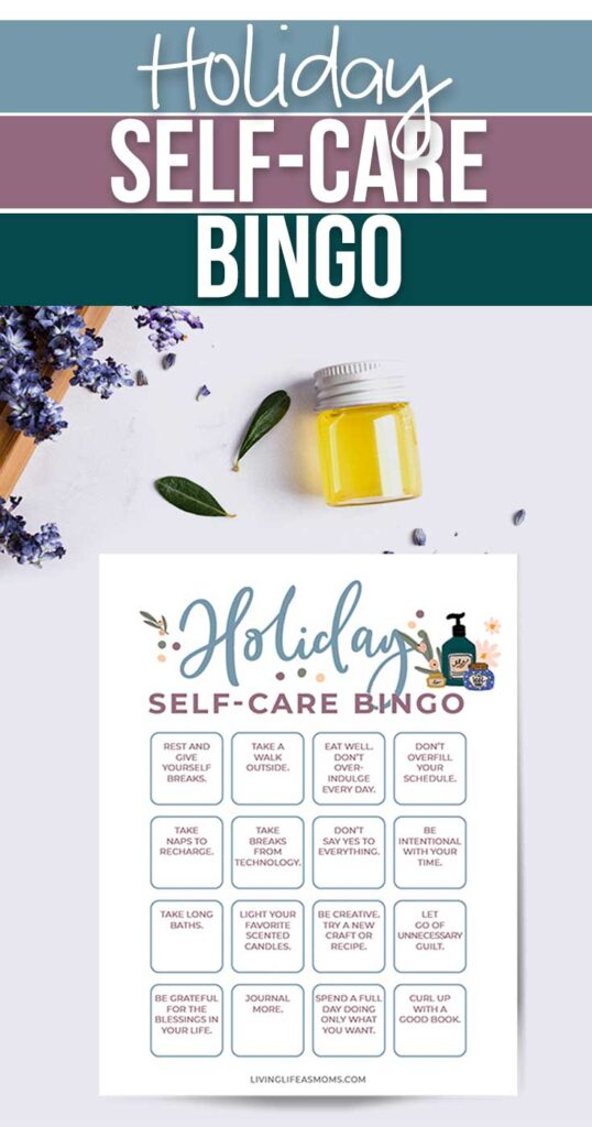 holiday self care bingo