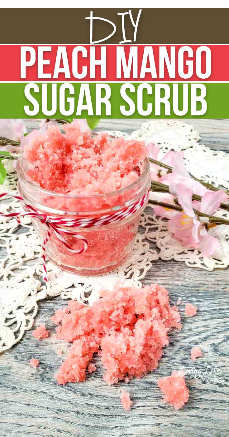 Easy DIY Peach Mango Sugar Scrub