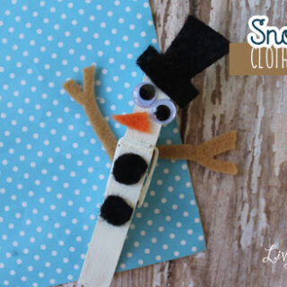snowman clothespin craft