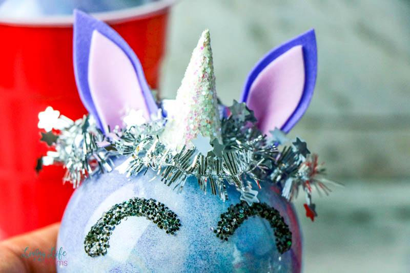 Homemade Glitter Unicorn Ornaments