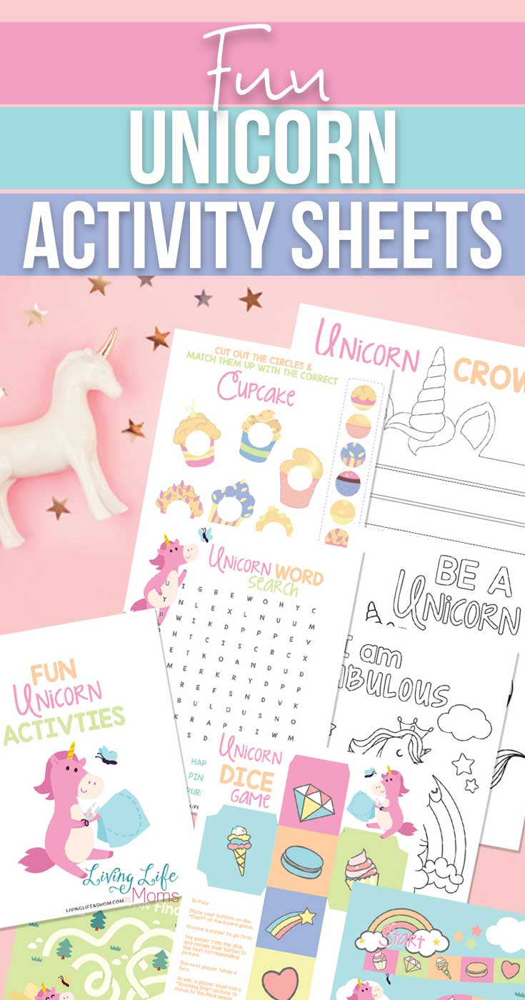 unicorn activity sheets