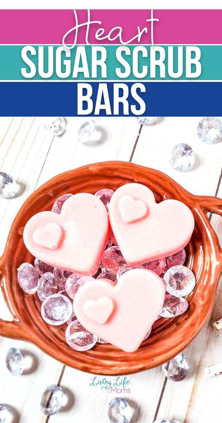 Homemade Heart Sugar Scrub Bar Recipe