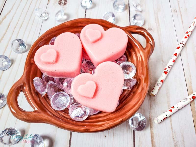 Homemade Heart Sugar Scrub Bars