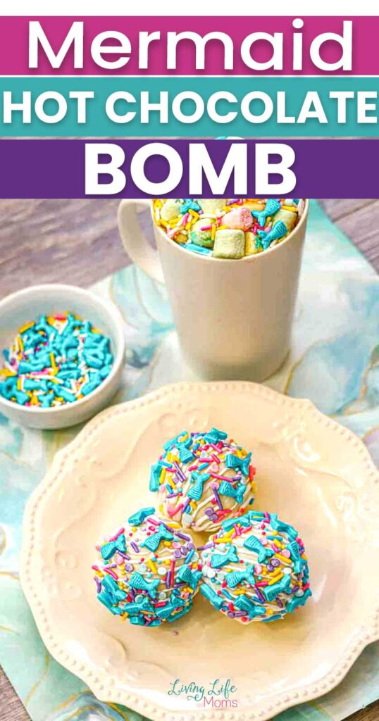 Mermaid hot chocolate bomb tutorial
