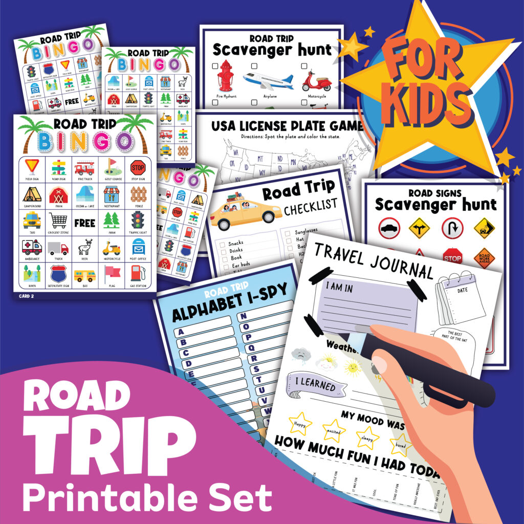 Fun road trip printables for kids