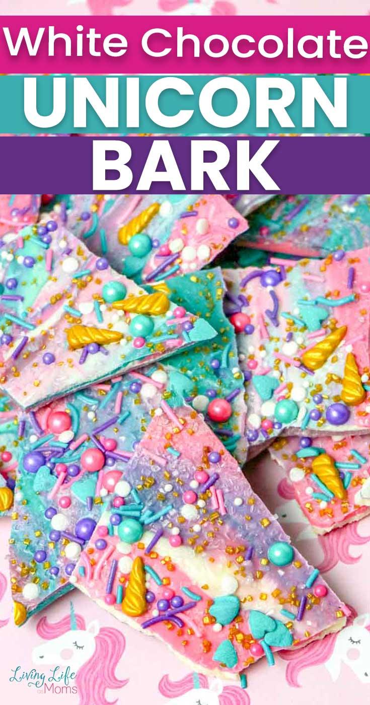white chocolate unicorn bark recipe
