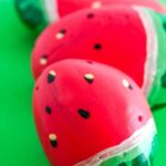 How to make a watermelon painted rock