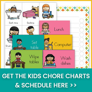 Kids chore chart and schedule